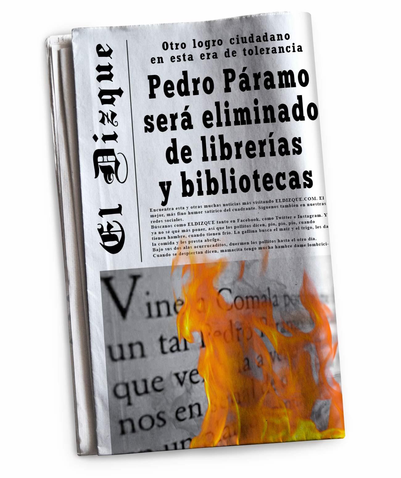 Otro logro ciudadano: Pedro Páramo será eliminado de librerías y bibliotecas 1