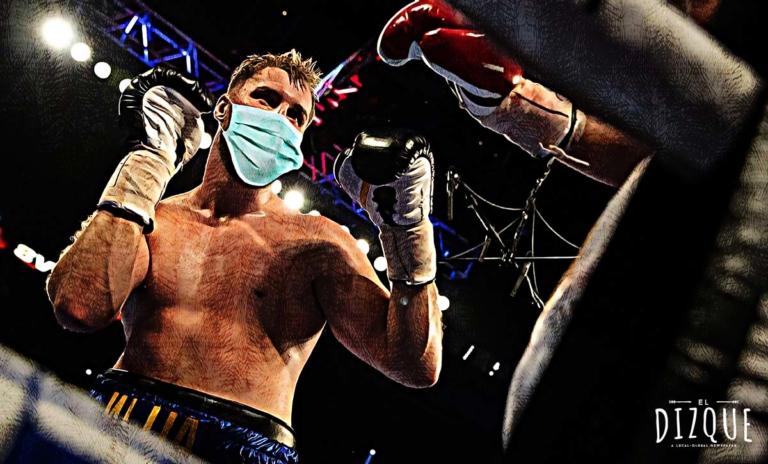 Se celebró el primer combate de box con sana distancia