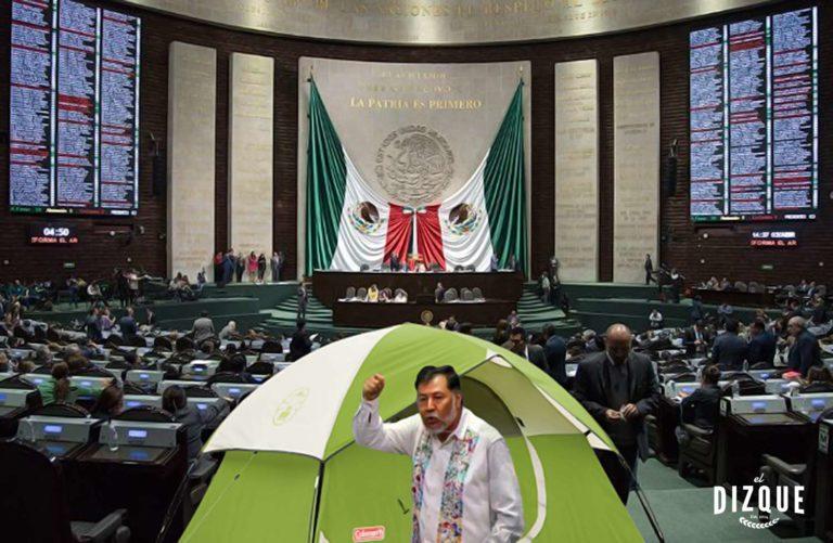 Plantón Gerardo Fernández Noroña