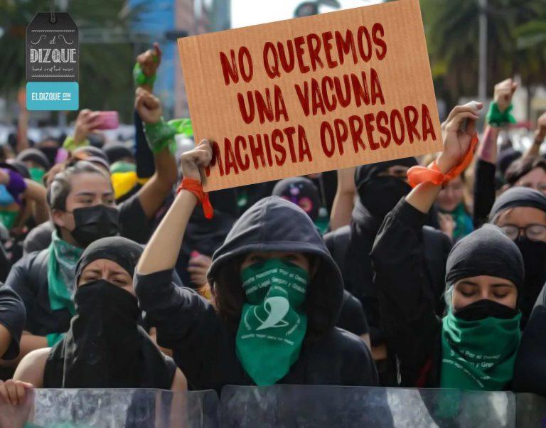 Feministas piden boicotear a la vacuna de Pfizer