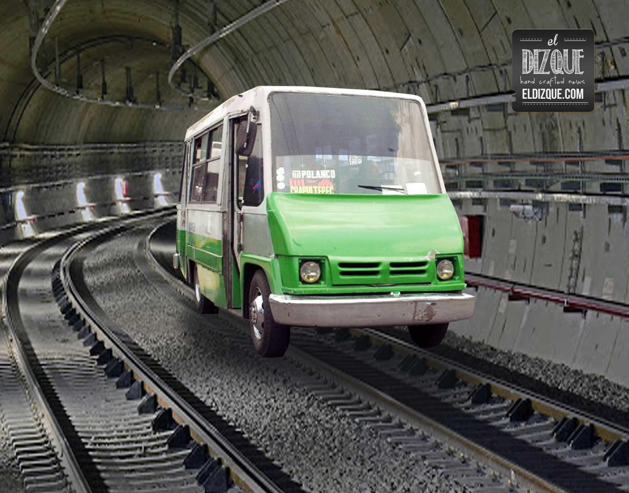 Inauguran línea de peseros dentro de los túneles del metro