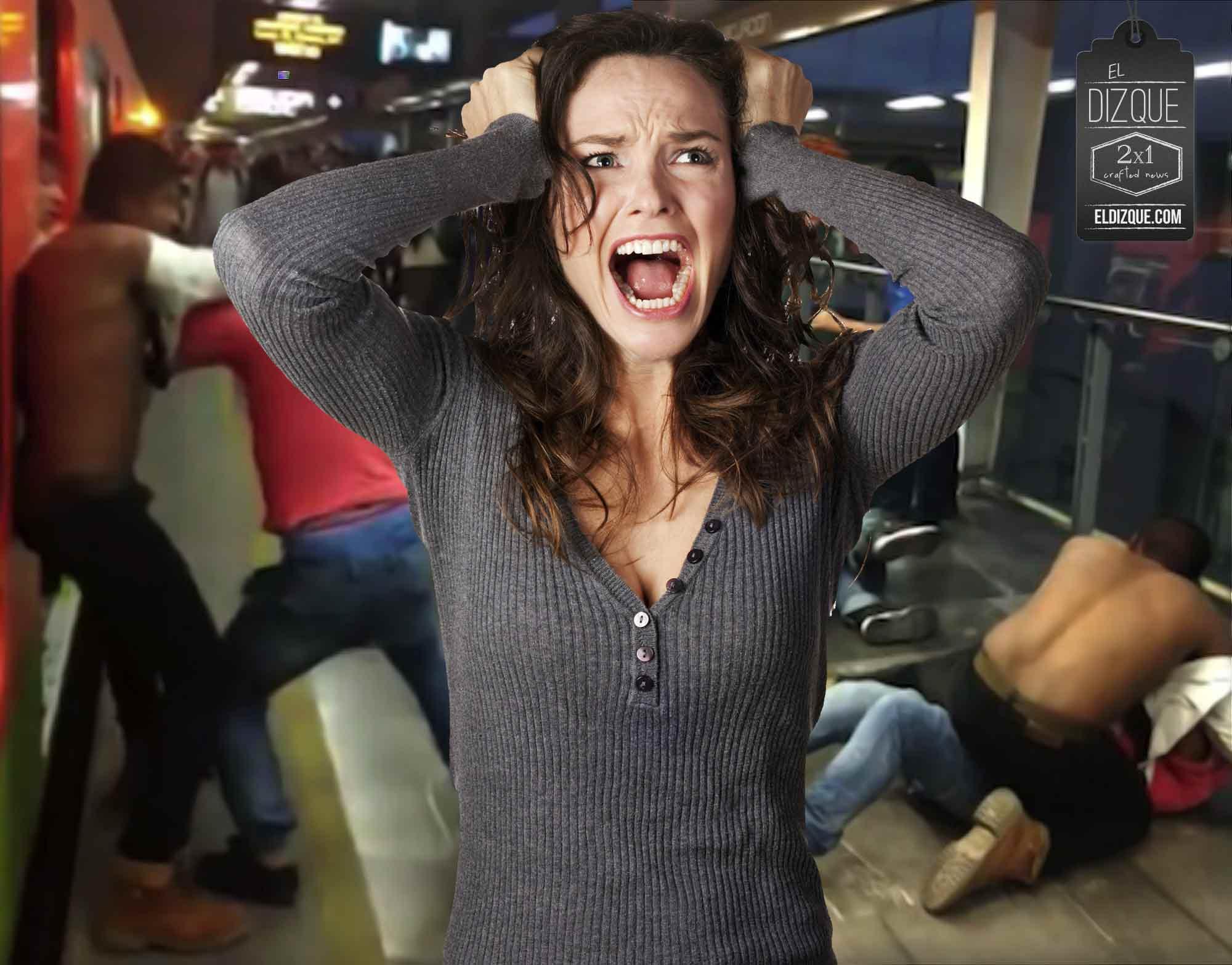 Zafarrancho en el metro entre fanáticos del frío y del calor