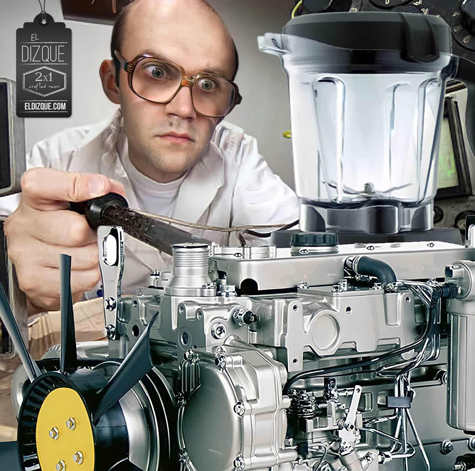 Licuadora a base de diesel