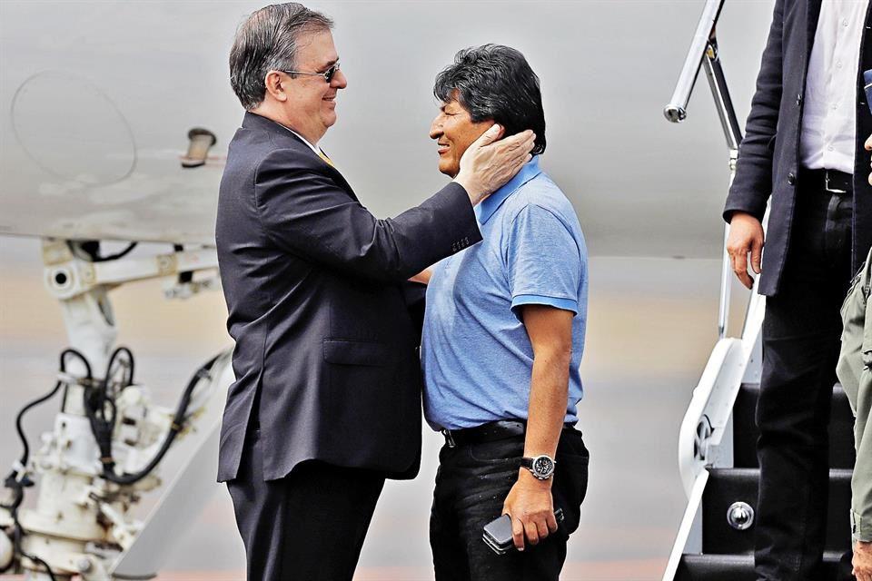 Marcelo Ebrard Evo Morales